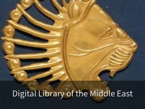 Digital Library of the Middle East. Background image: Gold lion head applique rom the Achaemenid period 6th-4th century B.C.