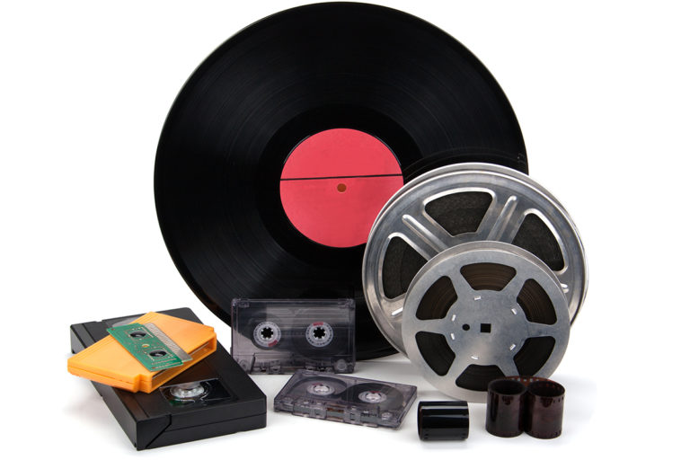 Old records and tapes