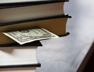 books and money