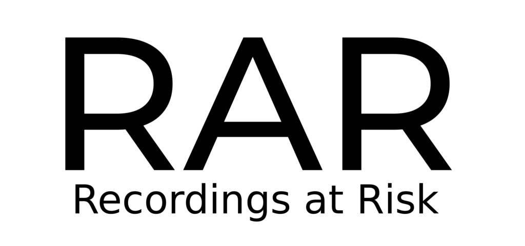 Logo with letters R-A-R in large black text with
